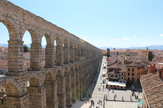 The Aqueduct in Segovia